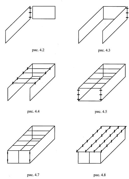 1. Установите заднюю стенку и